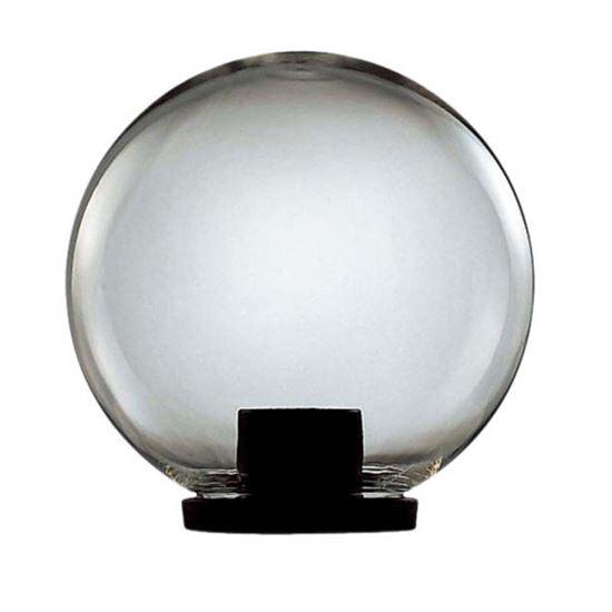 Immagine di Testa palo Globo, struttura in termoplastico nero, sfera in plastica Ø 30 cm, IP44, E27-100 W, colore opale