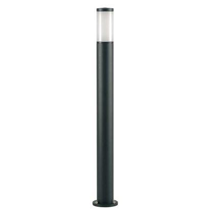 Immagine di Palo tondo alto, Fiammifero, diffusore termoplastico opalino, E27-25 W, altezza 100 cm, colore nero