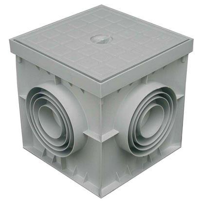 Immagine di Pozzetto e coperchio, colore grigio, 30x30 cm