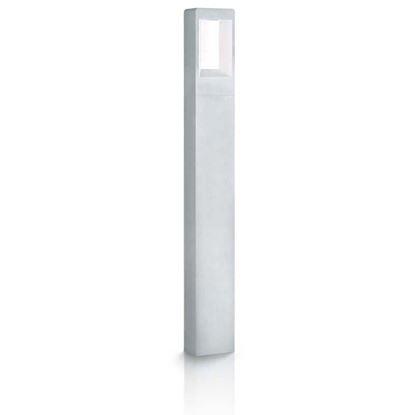 Immagine di Palo con luce a led, Paladino, corpo in alluminio, IP54, 102x60xh800 mm, 270 lumen, 4 W, 3000 K, colore grigio argento