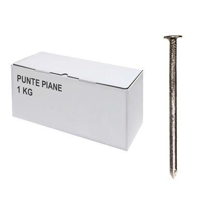 Immagine di Punte piane, scatola trasparente, 1 kg, 15x50 mm