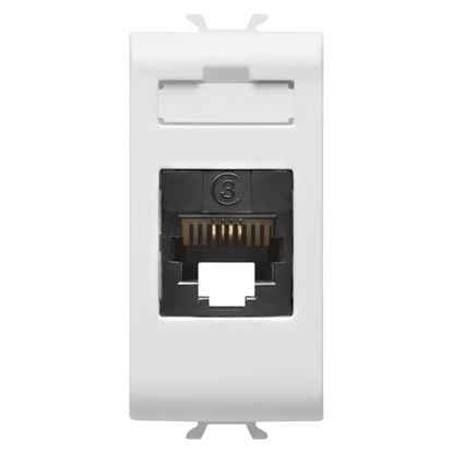 Immagine di Connettore telefonico Gewiss, Chorus, RJ11, colore bianco