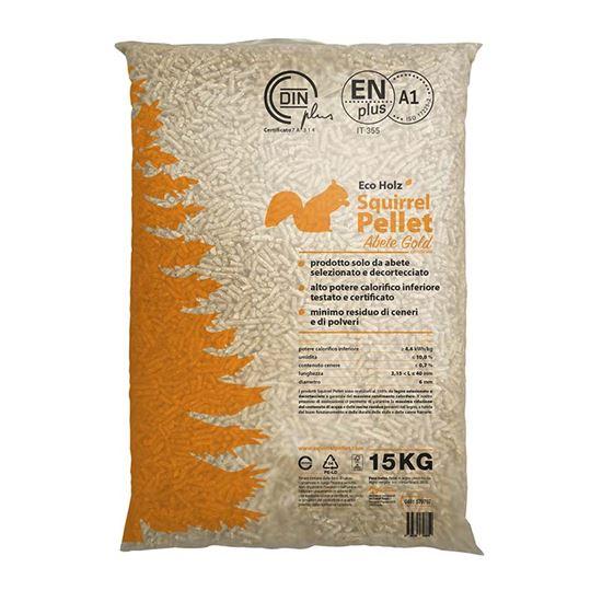 Immagine di Sacco pellet gold, certificato EN plus A1, a basso contenuto di ceneri, 15 kg