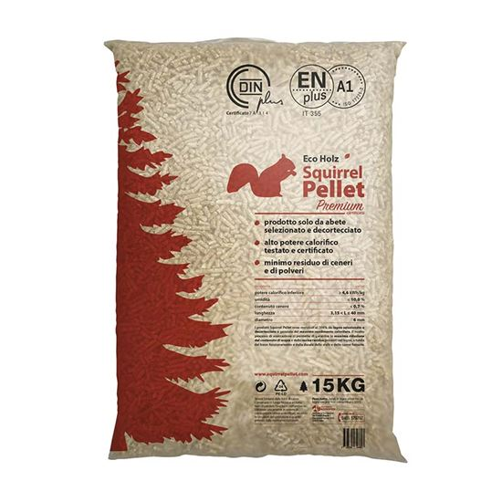 Immagine di Pellet Premium abete, ENplus A1, a basso contenuto di ceneri, 15 Kg