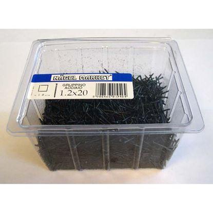 Immagine di Punte a gruppino, scatola trasparente, 1 kg, 1,2x20 mm
