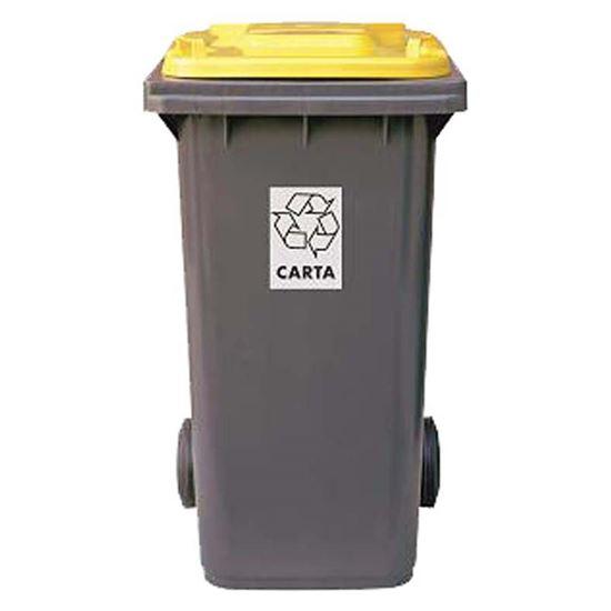 Immagine di Bidone raccolta differenziata, colore grigio/giallo, 120 lt