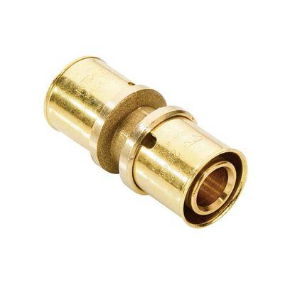 Immagine di Raccordo a pressare fit, diritto doppio, Ø16x16, gas