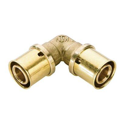 Immagine di Raccordo a pressare fit, gomito doppio, Ø20x20, gas