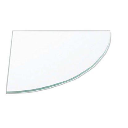 Immagine di Mensola vetro, trasparente angolare, 6x250x250 mm