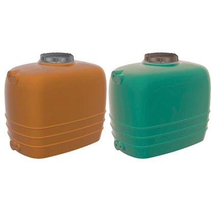 Immagine di Cisterna orizzontale, linea Aquarius, colore terracotta, capacità 5000 lt