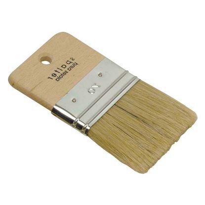 Immagine di Spalter, manico legno, effetto onda, setola, 120 mm
