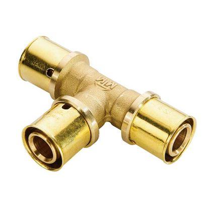 Immagine di Raccordo a pressare fit, T, Ø16 mm, gas