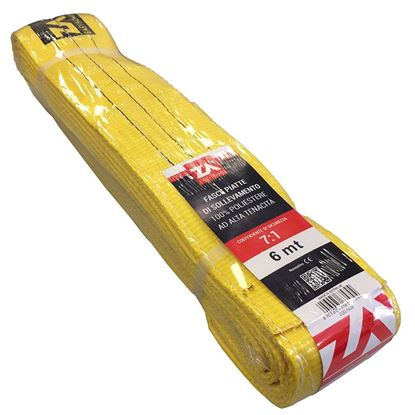 Immagine di Cinghia di sollevamento, gialla, 100 mm, 4 mt