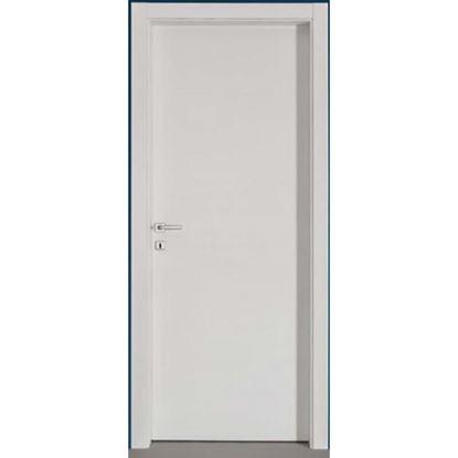 Immagine di Porta mara scracht bianco, telaio piatto, reversibile, accessori cromo satinato, 78x214 cm