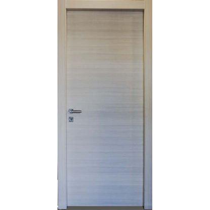 Immagine di Porta michela palissandro bianco, telaio piatto, scorrevole,  accessori cromo satinato, 70x210 cm