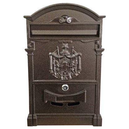 Immagine di Cassetta postale Residence, in alluminio, con serratura e cilindro, colore bronzo