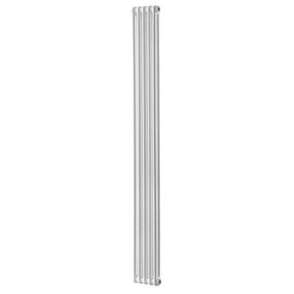Immagine di Radiatore acciaio Warm Plus tubolare, interasse 1935 mm 2 colonne di profondità 4 elementi, 555 W, colore bianco ral 9010