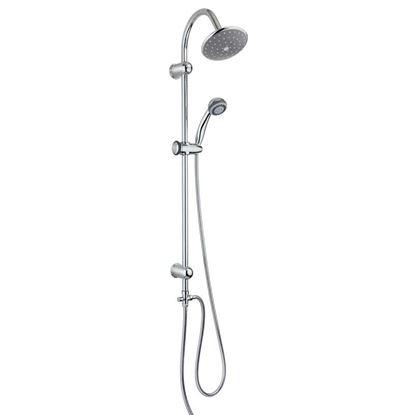 Immagine di Colonna doccia Vesugo, regolabile, soffione in ABS, doccetta 3 getti in ABS, flessibile doppia graffatura