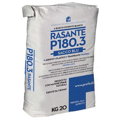 Immagine di RASANTE P180.3, a base di cemento bianco, presa rapida, finitura liscia, sacco da 20 kg