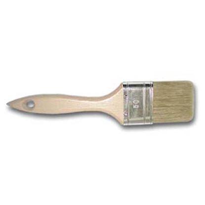 Immagine di Pennello piatto manico legno, setola bionda mista, 60 mm