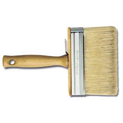 Immagine di Plafoniera manico legno, setola bionda mista, 70x30 mm