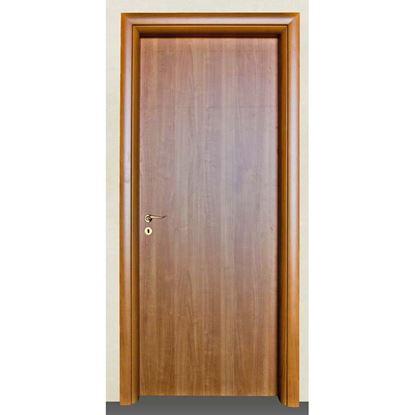 Immagine di Porta mara noce chiaro battente, reversibile, telaio piatto, accessori olv, 78x214 cm