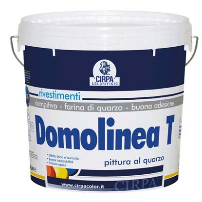 Immagine di Pittura al quarzo Domo, per esterni e interni, ottimo potere riempitivo e mascherante, colore bianco opaco, 14 lt