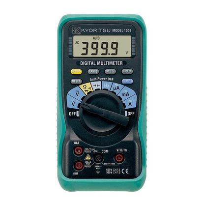 Immagine di Multimetro Digitale KEW 1009, tensioni AC e DC, corrente AC e DC, duty cycle, resistenza, continuità, prova diodo, frequenza