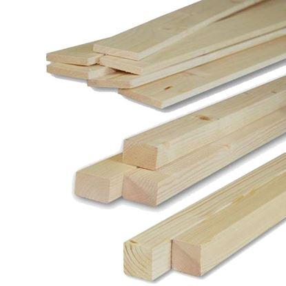 Immagine di Listelli abete,  piallati su 4 lati, 60x60x3000 mm