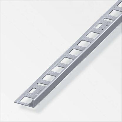 Immagine di Profilo di rifinitura, alluminio naturale, 2,5 mt, 6x21 mm