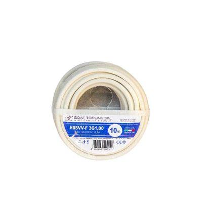Immagine di Matassa cavo H05VV-F 3G1,0 mmq, 10 mt, colore bianco