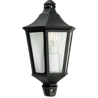 Immagine di Mezza lanterna esagonale, E27, colore nero