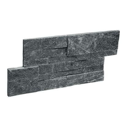 Immagine di Rivestimento in quarzite naturale tokyo, 35x18 cm, spessore 1,5-2,5 mm, confezione da 0,32 m²