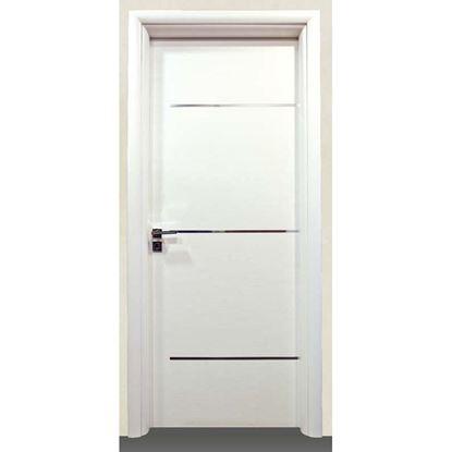 Immagine di Porta greta bianco batt., revers., 88x214 cm, telaio piatto, acc. crs