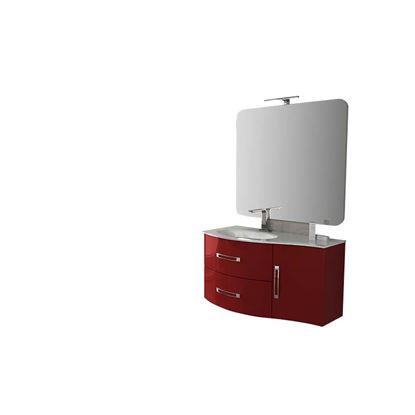 Immagine di Base Best 69 cm, sospeso, 2 cassetti soft-close, colore rosso lucido