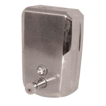 Immagine di Distributore di sapone liquido Brinox acciaio inox sistema push per tutti i saponi salvo microgranuli 0,8lt viti incl