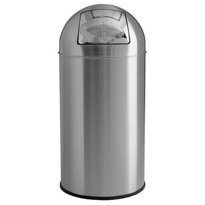 Immagine di Gettacarte Apollino push, sportello push, secchio interno con maniglia, 40 LT, inox satinato