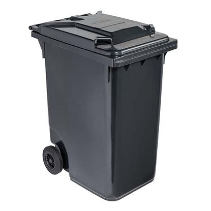 Immagine di Contenitore in plastica Contivia 2, 2 ruote 360 lt, grigio