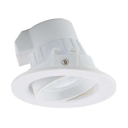 Immagine di Faretto LED incassatto Downlight orientabile, GU10, 7W, 3000°K, diffusore ottico