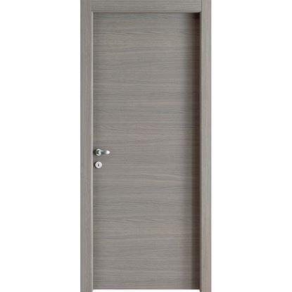 Immagine di Porta Giorgia reversibile grigio quarzo, battente, 80x210 cm