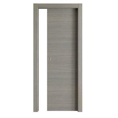 Immagine di Porta Giorgia reversibile grigio quarzo, scorrevole, 70x210 cm