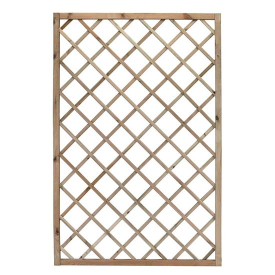 Immagine di Grigliato Promo, legno di conifera impregnato in autoclave, maglia diagonale 13x13 cm, 60x180 cm