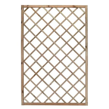 Immagine di Grigliato Promo, legno di conifera impregnato in autoclave, maglia diagonale 13x13 cm, 100x180 cm