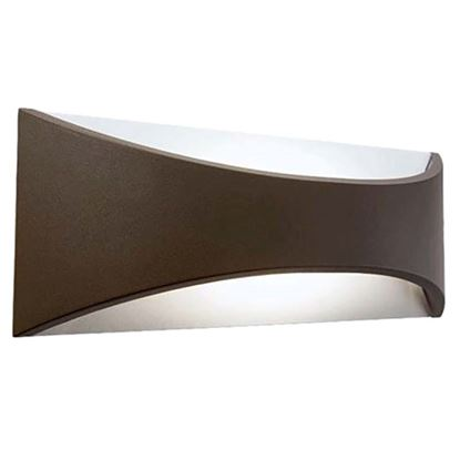 Immagine di Applique curva LED, piccola, 12W integrato, colore marrone