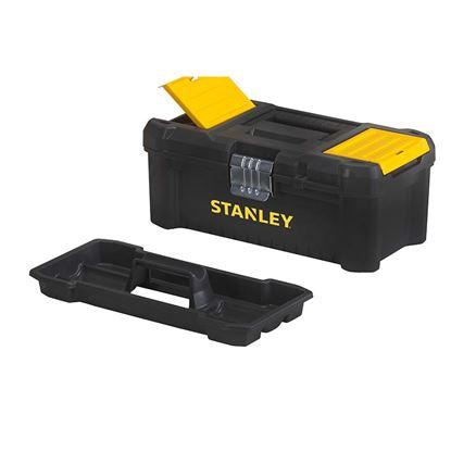 """Immagine di cassetta Stanley, portautensili 12.5"""", chiusura in metallo, con vaschetta estraibile, 32x18,8x13,2 cm"""