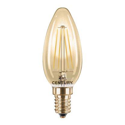 Immagine di Lampada LED filamento Candela Incanto epoca, 4W, E14, luce calda