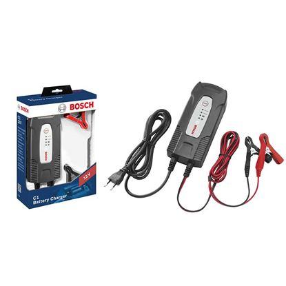 Immagine di Caricabatteria Bosch C1, 6/12 V, per batterie al piombo, Gel, EFB, VRLA, con programma carica di mantenimento