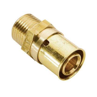 Immagine di Raccordo a pressare fit, diritto maschio, Ø26x3/4, gas
