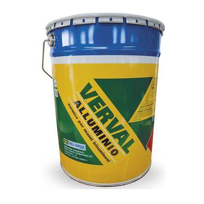 Immagine di Verval alluminio, vernice bituminosa con alluminioa base solvente, protettivo per membrane, 5 kg