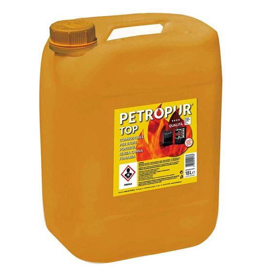 Immagine di Combustibile Petropur Top 18L, combustione senza fumo e lieve odore, stabilità di fiamma